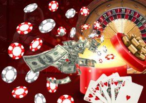 In het casino spelen